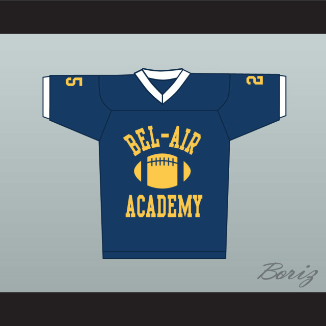 0b23f0dddd52 Fresh Prince Carlton Banks Bel-Air Academy Football Jersey Blue