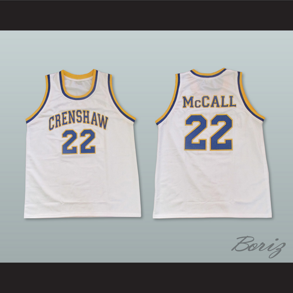 9247cfff94a8 Omar Epps Quincy McCall 22 Crenshaw High School White Basketball Jersey Love  and Basketball