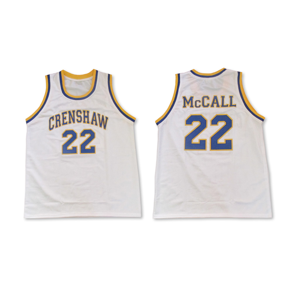 c2ab2124c208 Omar Epps Quincy McCall 22 Crenshaw High School Basketball Jersey Love and  Basketball AMBASSADORS SERIES